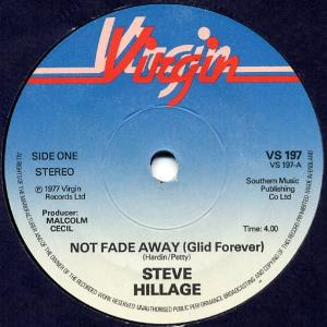 Steve Hillage - Not Fade Away (glid Forever) CD (album) cover