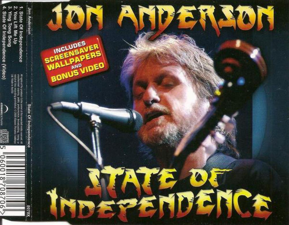 Jon Anderson - State Of Independence CD (album) cover