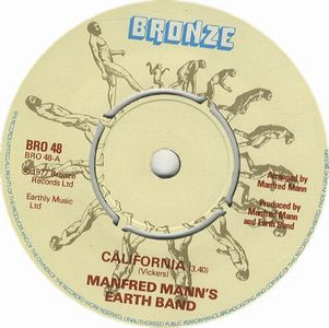 Manfred Mann's Earth Band - California CD (album) cover