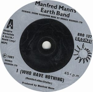 Manfred Mann's Earth Band - I (who Have Nothing) CD (album) cover