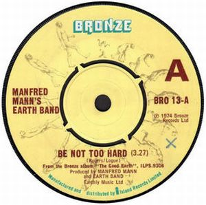 Manfred Mann's Earth Band - Be Not Too Hard CD (album) cover