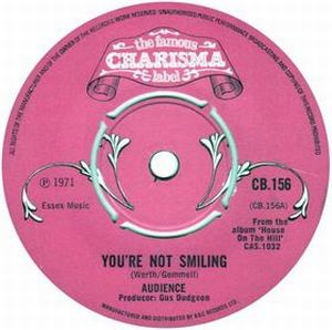 Audience - You're Not Smiling CD (album) cover