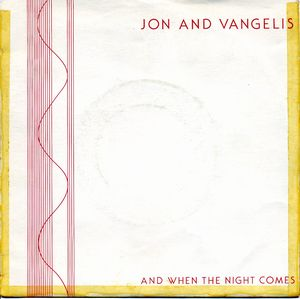 Vangelis - Jon And Vangelis CD (album) cover