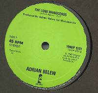Adrian Belew - Big Electric Cat / The Lone Rhinocerous CD (album) cover