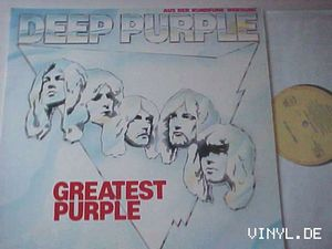 Deep Purple - Greatest Purple CD (album) cover