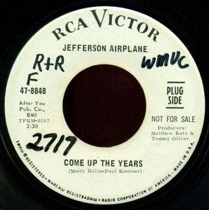 Jefferson Airplane - Come Up The Years CD (album) cover