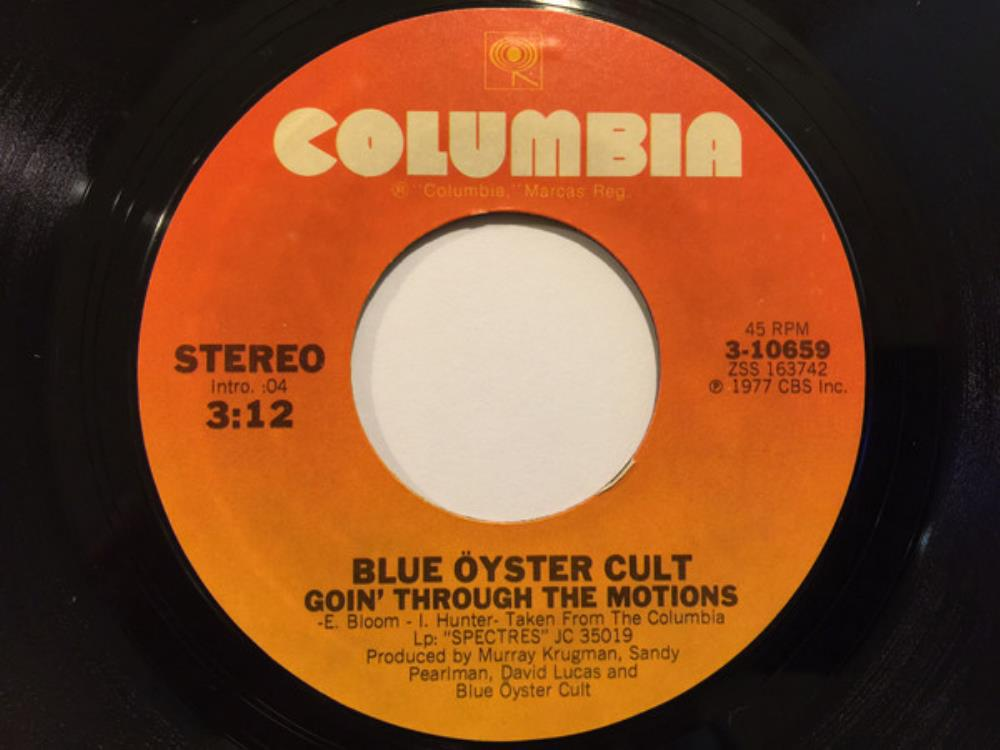 Blue Öyster Cult - Goin' Through The Motions / Searchin' For Celine CD (album) cover