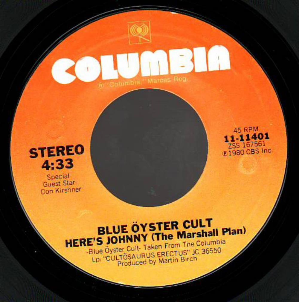 Blue Öyster Cult - Here's Johnny (the Marshall Plan) CD (album) cover