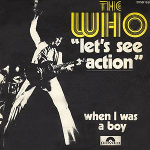 THE WHO - Let's See Action / When I Was A Boy CD album cover