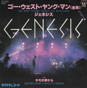 Genesis - Go West Young Man (in The Motherlode) CD (album) cover