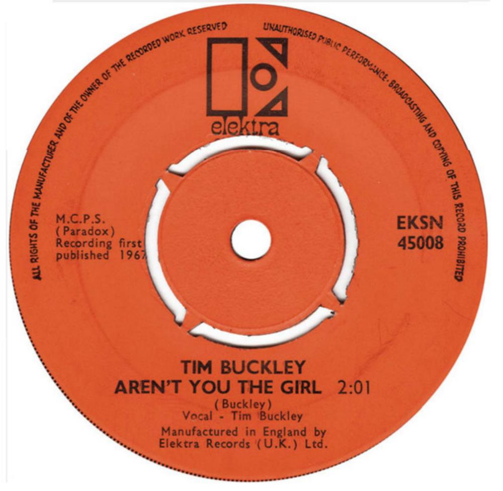 Tim Buckley - Aren't You The Girl CD (album) cover