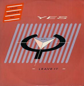 Yes - Leave It 12'' CD (album) cover