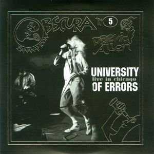 University Of Errors - Go Forth And Errorize!!! - Live In Chicago CD (album) cover