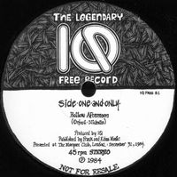 Iq - The Legendary IQ Free Records CD (album) cover