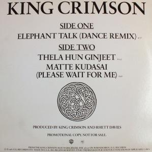 King Crimson - Elephant Talk CD (album) cover