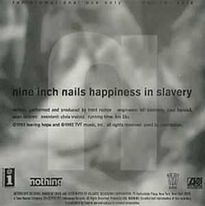 Nine Inch Nails - Happiness In Slavery CD (album) cover