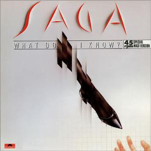 Saga - What Do I Know? CD (album) cover