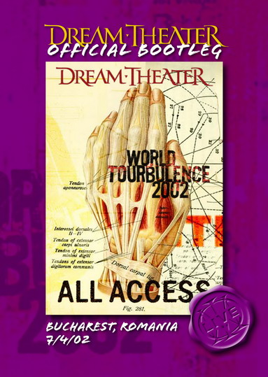 DREAM THEATER - Bucharest, Romania 7/4/02 CD (album) cover