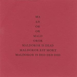 Current 93 - Maldoror Is Dead CD (album) cover