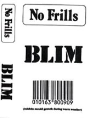 BLIM - No Frills CD album cover