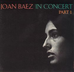 Joan Baez - Joan Baez In Concert, Pt. 1 CD (album) cover