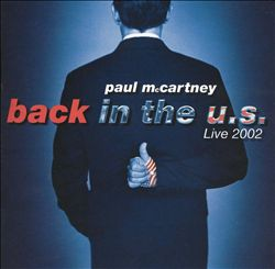 Paul Mccartney - Back In The U.s. CD (album) cover