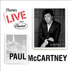 Paul Mccartney - Itunes Live From Capitol Studios CD (album) cover