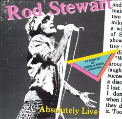 Rod Stewart - Absolutely Live CD (album) cover