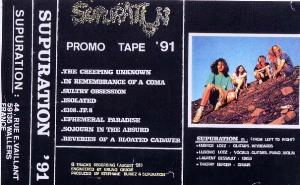 SUPURATION - Promo Tape '91 CD album cover