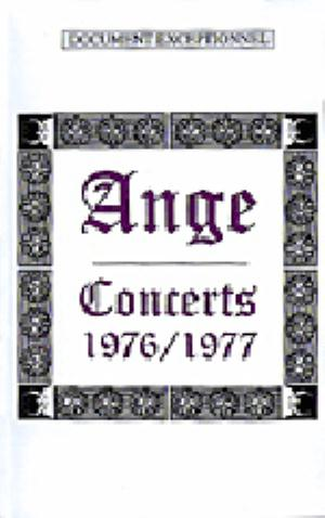 ANGE - Concerts 1976/1977 CD (album) cover