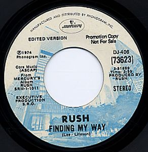 RUSH - Finding My Way CD album cover